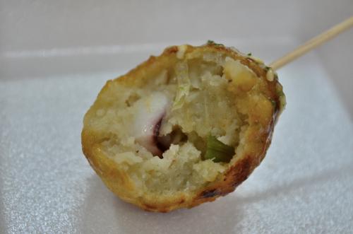 dentro de takoyaki